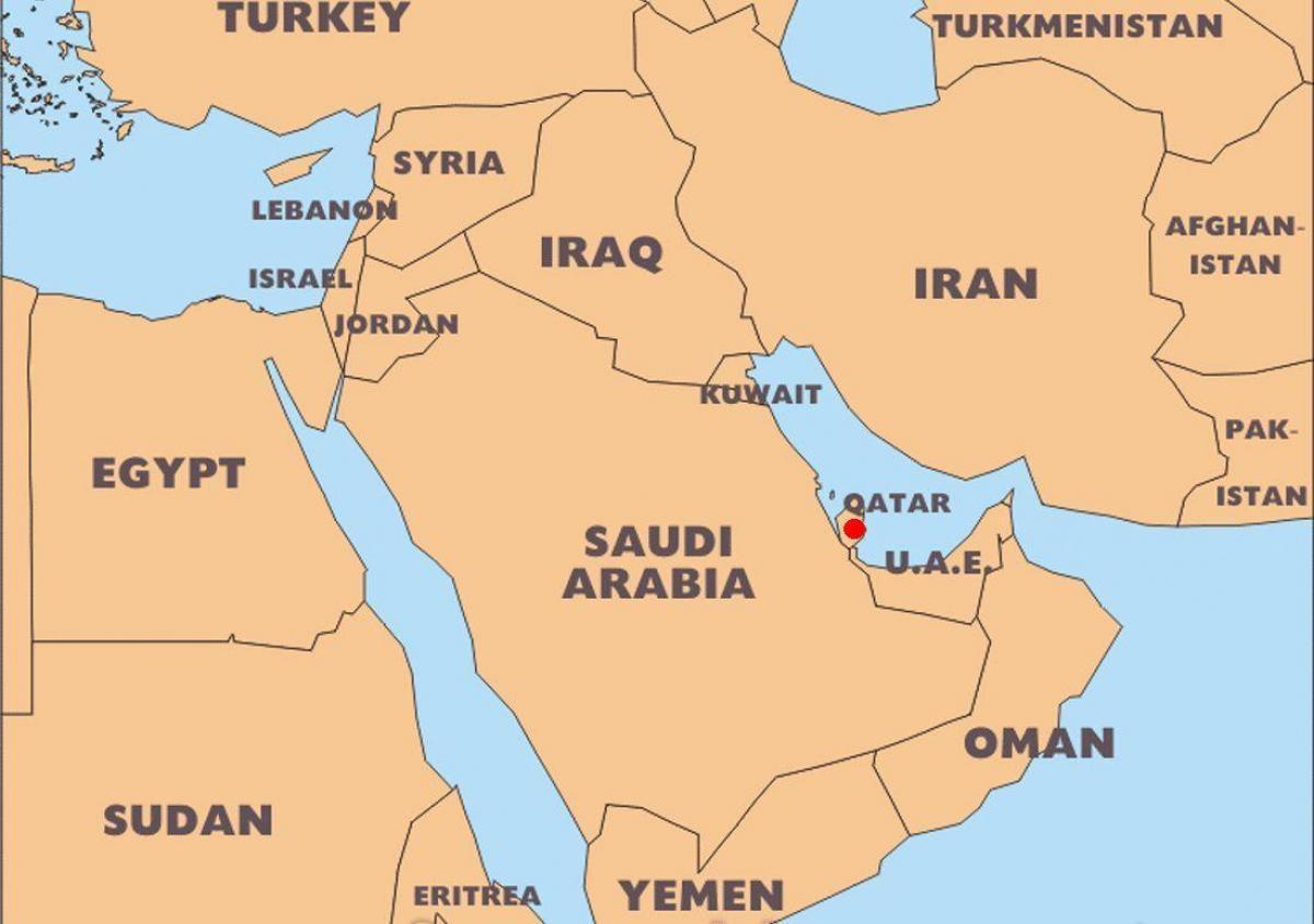 Carte Du Monde Qatar.Qatar Carte Du Monde De L Emplacement De La Carte Du Monde Au Qatar